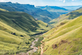 View from Sani Pass back towards South African Border Post - PhotoDune Item for Sale