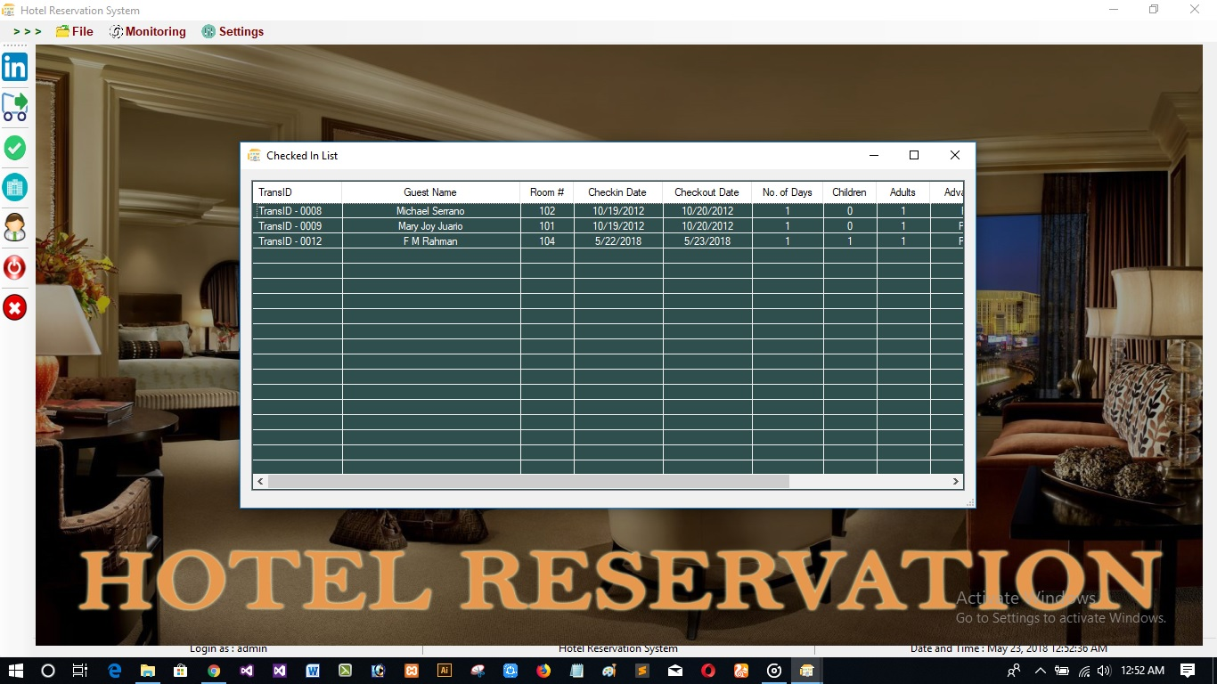 Easy Reservation   Hotel Management System With Full Source