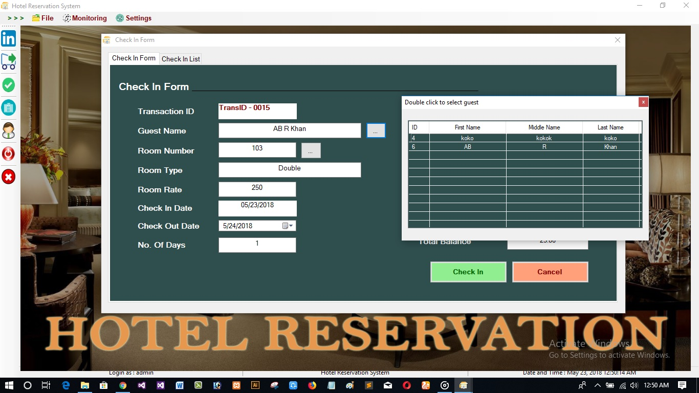 Easy Reservation | Hotel Management System With Full Source Code