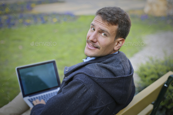 Man with a notebook - Stock Photo - Images