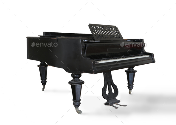 A grand piano - Stock Photo - Images