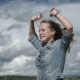 Girl Catches the Wind - VideoHive Item for Sale