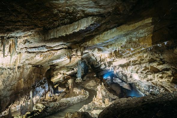 Kutaisi, Georgia. View Of Prometheus Cave Also Called Kumistavi - Stock Photo - Images