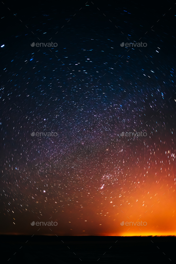 Natural Real Night Sky Stars Background Texture - Stock Photo - Images