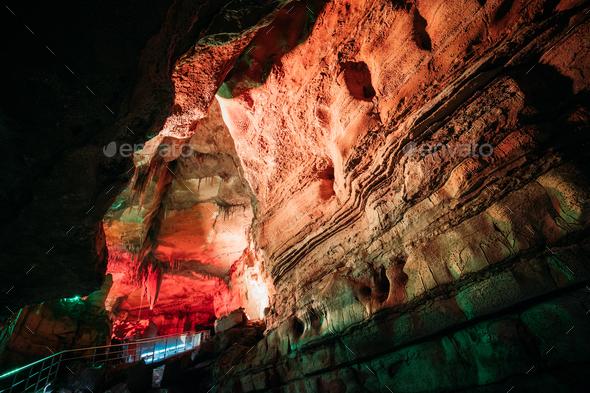 Kutaisi, Georgia. View Of Sataplia Karst Cave In State Sataplia - Stock Photo - Images