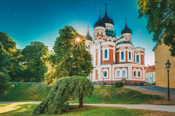 Alexander Nevsky Cathedral, An Orthodox Cathedral Church In The - Stock Photo - Images
