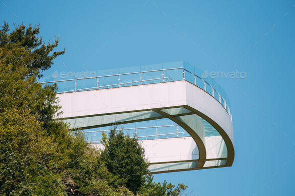 Kutaisi, Georgia. Observation Platform With Clear Floor At Highe - Stock Photo - Images