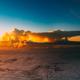 Beautiful Panorama Of Sunset Over Mountains. Bright Blue, Orange - PhotoDune Item for Sale
