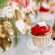 Dessert Sweet Tasty Cupcake In Candy Bar On Table. Delicious Swe - PhotoDune Item for Sale