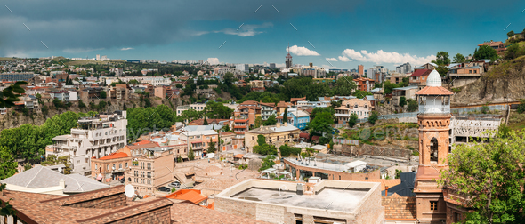 Historic District. Abanotubani - Bath District In Tbilisi Old To - Stock Photo - Images