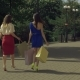 Joyful Shopping Women Walking on City Street - VideoHive Item for Sale