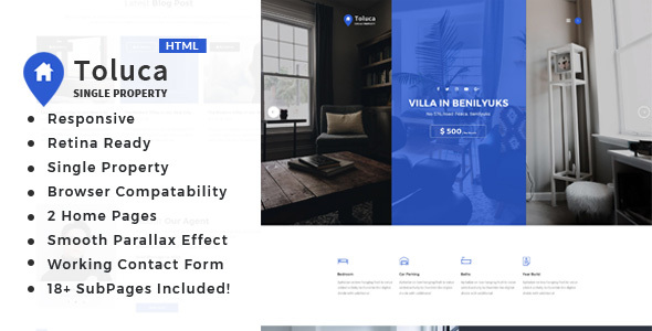 Image of Toluca: Single Property Real Estate HTML Template