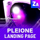 PLEIONE - Creative One Page Landing PSD Template - ThemeForest Item for Sale