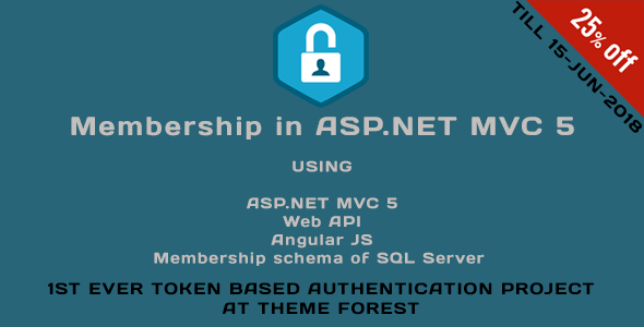 Membership in ASP.NET MVC 5 (Web API, Angular JS, Membership schema of SQL Server) - CodeCanyon Item for Sale