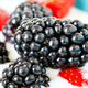 Blackberries and strawberries in yogurt. - PhotoDune Item for Sale