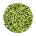 Dried chives, herb circle from above, over white - PhotoDune Item for Sale