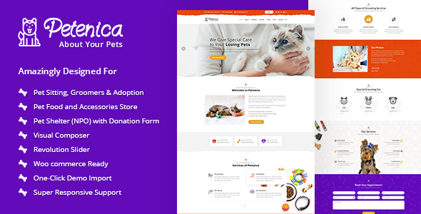 Image of Petenica: Pet Sitter and Adoption WordPress Theme