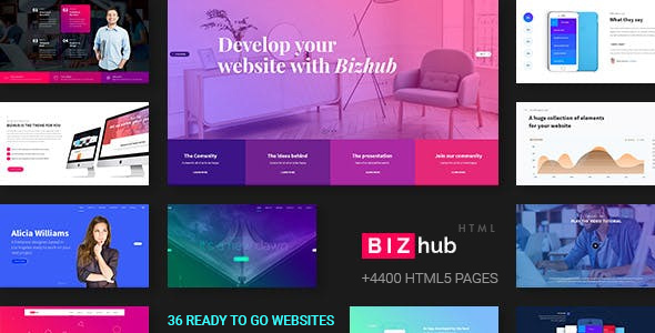 Image of Bizhub - Responsive MultiPurpose HTML5 Template