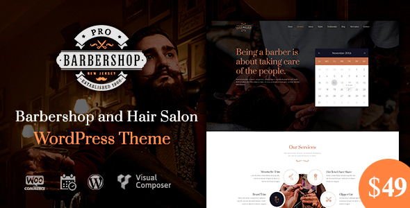 Barbershop Pro | Barbershop WordPress Barbershop
