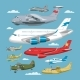 Plane Vector Aircraft or Airplane and Jet Flight - GraphicRiver Item for Sale
