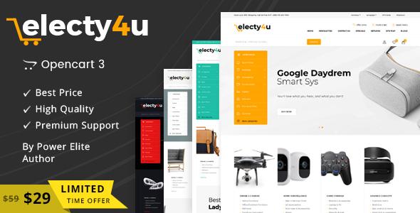 Electy4u - Multipurpose OpenCart 3 Theme - Technology OpenCart