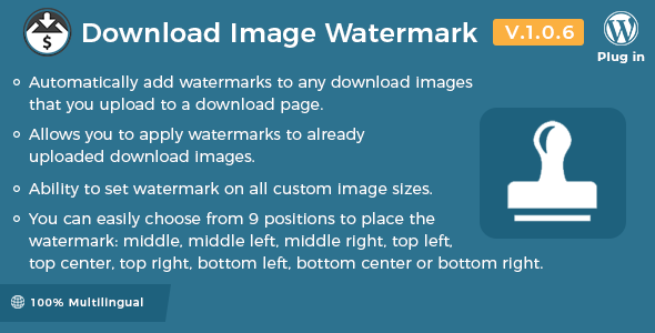 Easy Digital Downloads - Download Image Watermark - CodeCanyon Item for Sale