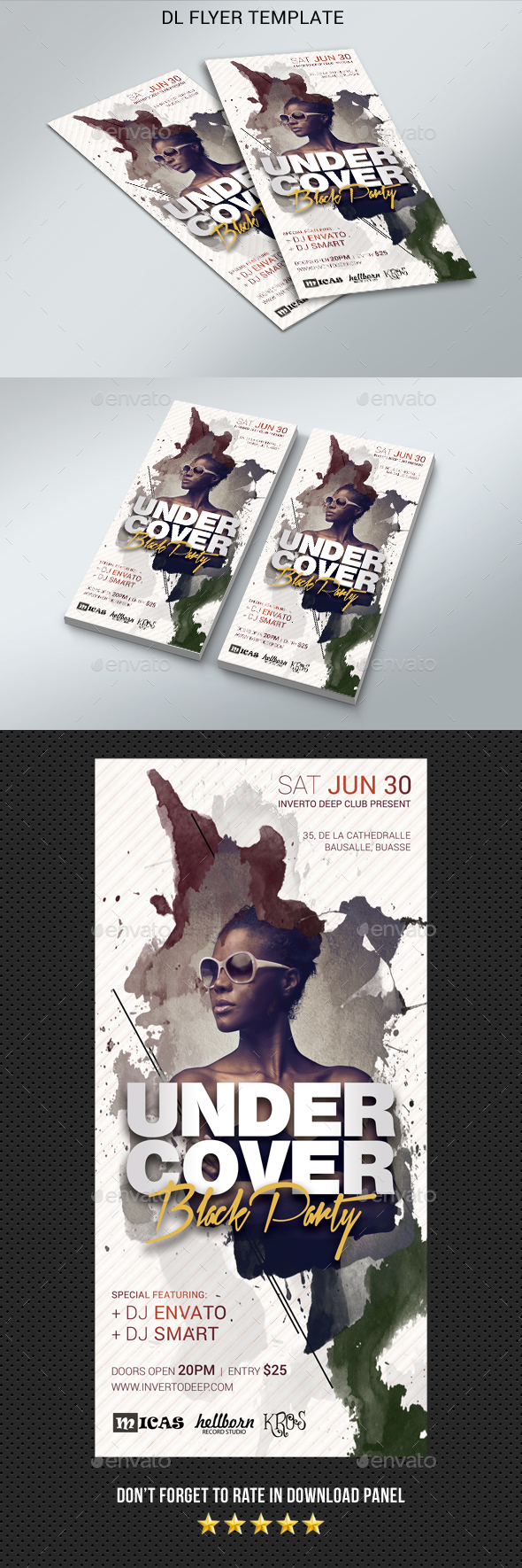 DL Undercover Party Flyer - Clubs & Parties Events