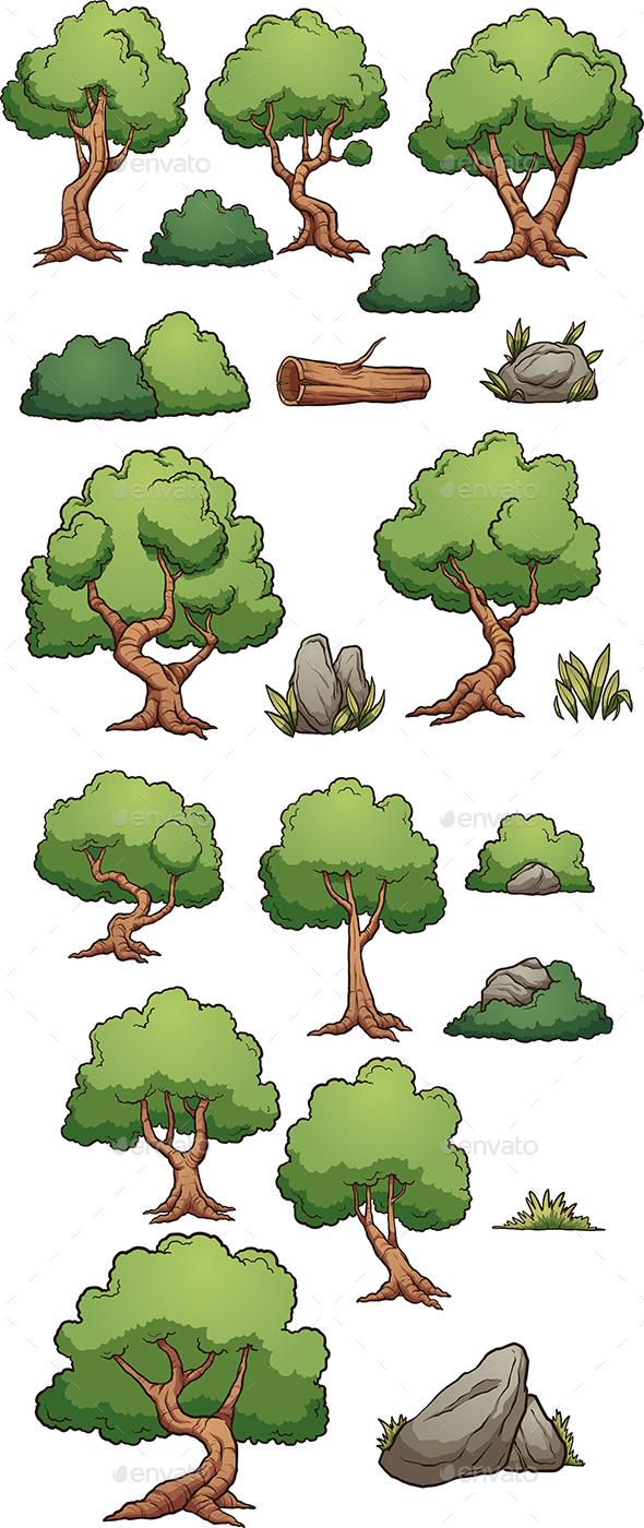 Forest Elements - Flowers & Plants Nature
