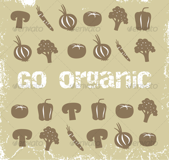 Collection of organic vegetables - Objects Illustrations