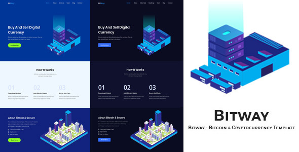 Bitway - Crypto Currency HTML5 Template - Technology Site Templates