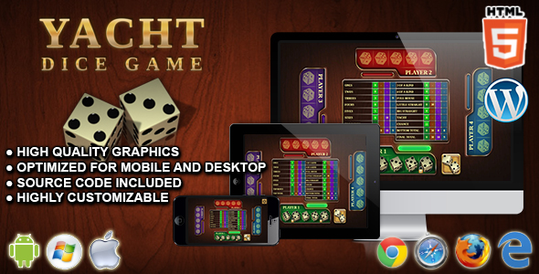 Yacht Dice Game - HTML5 Board Game nulled free download
