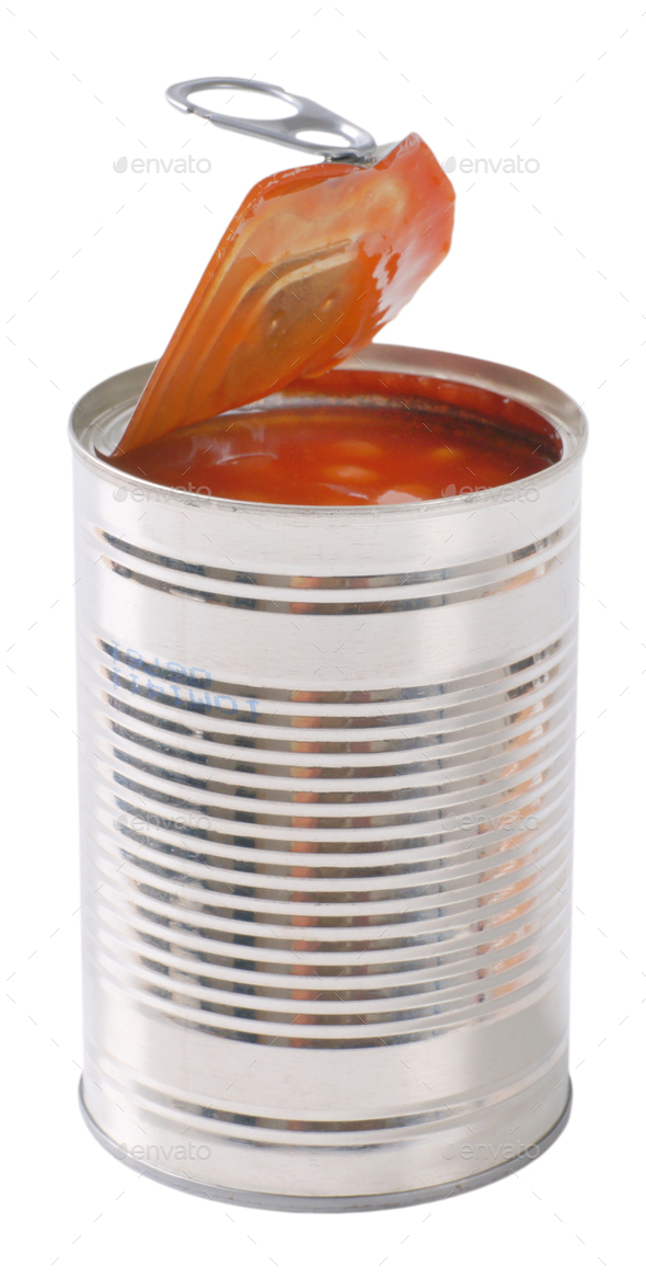 can of beans in tomato - Stock Photo - Images