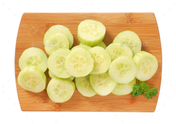 pile of sliced cucumber - Stock Photo - Images