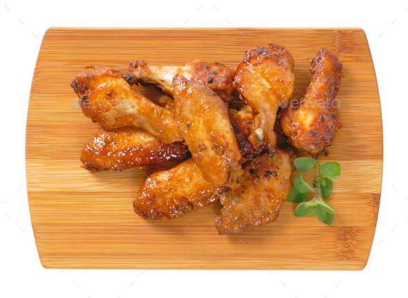 spicy Thai chicken wings - Stock Photo - Images