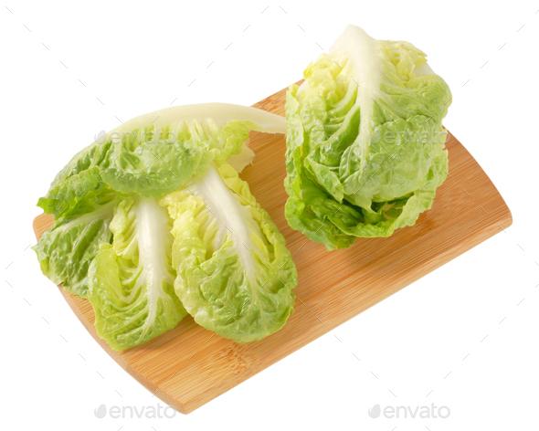 little gem lettuce - Stock Photo - Images