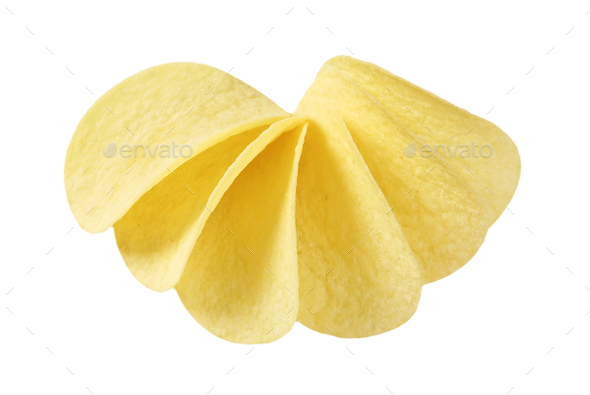 thin potato chips - Stock Photo - Images