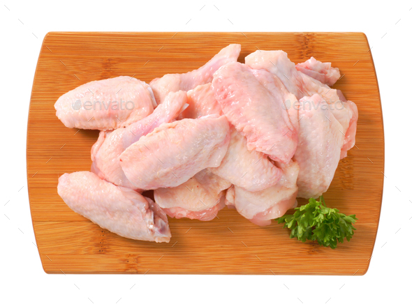 raw chicken wings - Stock Photo - Images