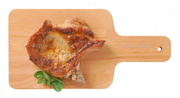 roasted pork chop - Stock Photo - Images