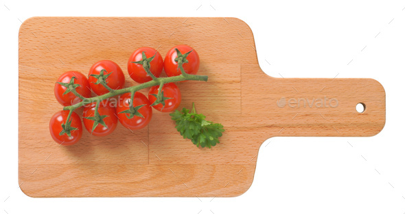 bunch of cherry tomatoes - Stock Photo - Images