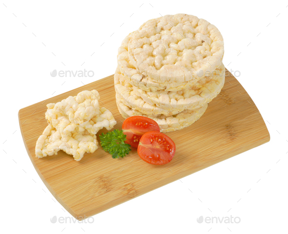 puffed rice bread - Stock Photo - Images
