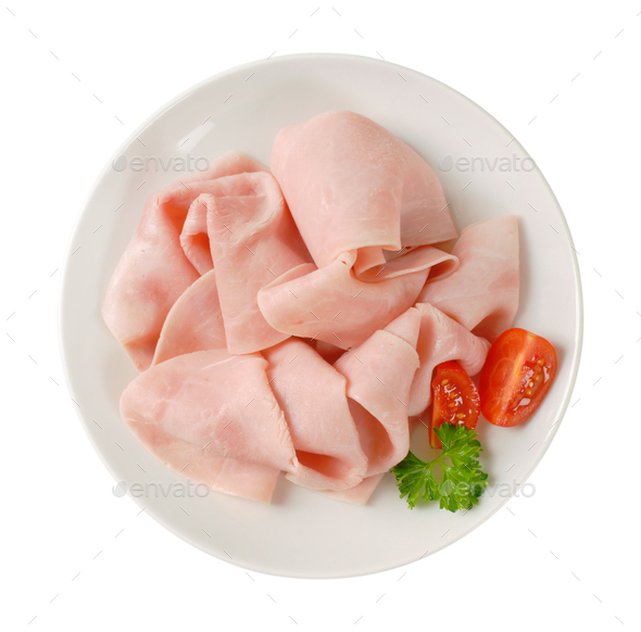 slices of pork ham - Stock Photo - Images