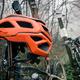 Mountain bike and helmet in autumn woods - PhotoDune Item for Sale