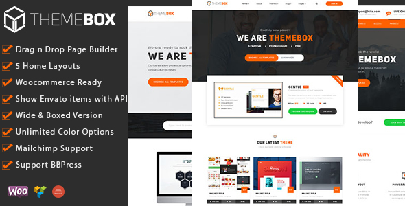 Themebox - Unique Digital Products Ecommerce WordPress Theme - Technology WordPress
