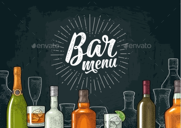 Template for Bar Menu Alcohol Drink by MoreVector | GraphicRiver