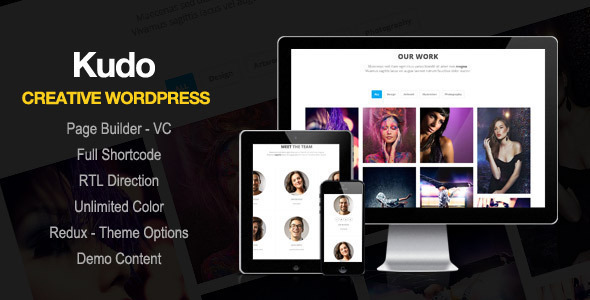 Kudo - Portfolio, Marketing Landing Page WordPress Theme