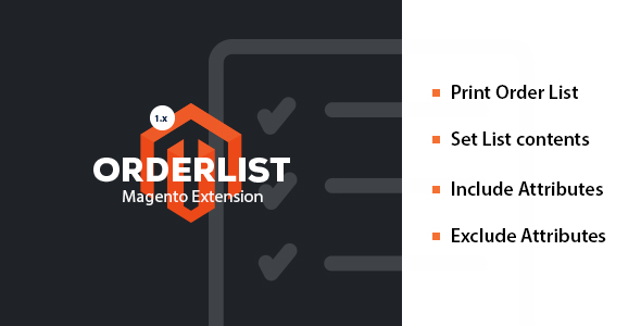 Order / Pick List - for Magento 1.9