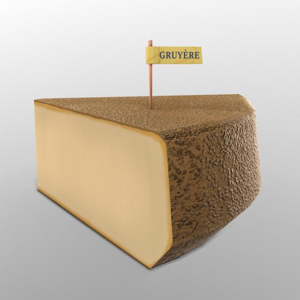 Gruyere Cheese - 3DOcean Item for Sale