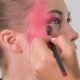 Makeup Artist Making Beautiful Face Art for Young Blonde Woman with Makeup Brush - VideoHive Item for Sale