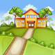 Illustration with School Building - GraphicRiver Item for Sale