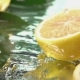 Lemon Half Slice Hits on Fresh Water Surface .  Shot - VideoHive Item for Sale